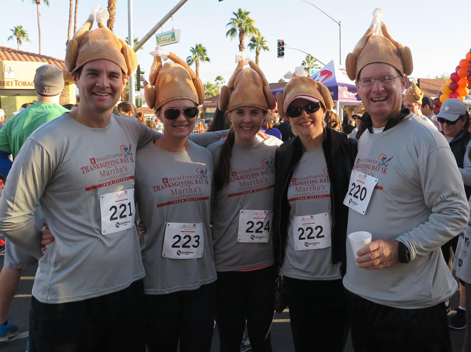 Martha's Village 5K Turkey Hat Family