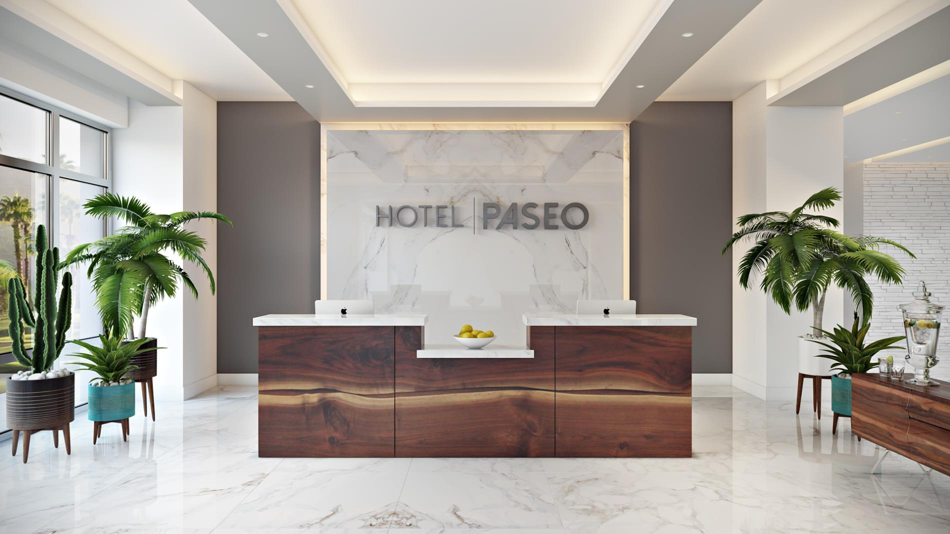 City of palm desert home hotel paseo lobby front desk sciox Images