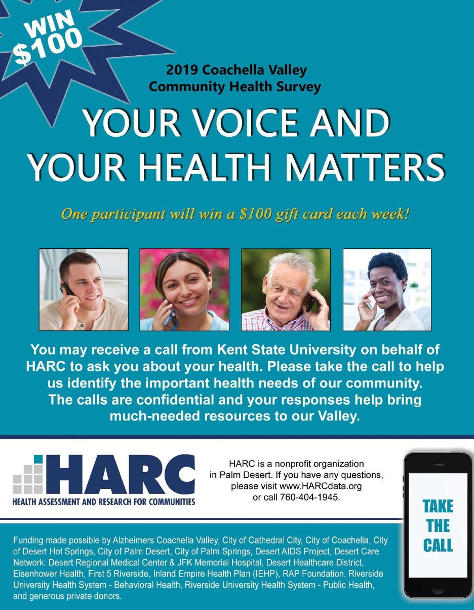 HARC Coachella Valley Community Health Survey Flyer 2019